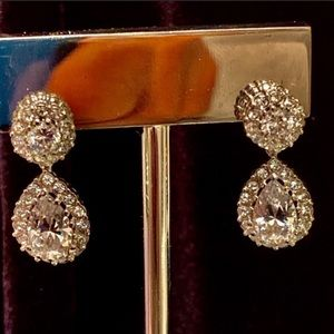 Swarovski & Nadri Create Elegant CZ Drop Earrings